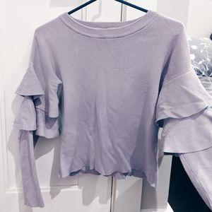 Romeo & Juliet Couture | ruffle sleeve sweater